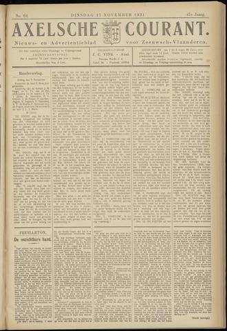 Axelsche Courant 1931-11-17