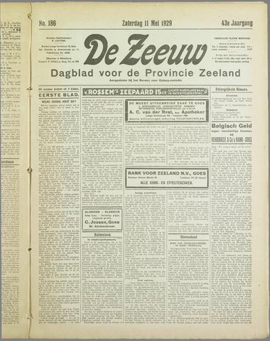 De Zeeuw. Christelijk-historisch nieuwsblad voor Zeeland 1929-05-11