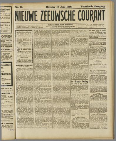 Nieuwe Zeeuwsche Courant 1918-06-18