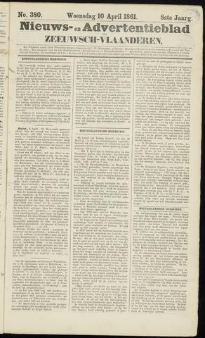 Ter Neuzensche Courant. Algemeen Nieuws- en Advertentieblad voor Zeeuwsch-Vlaanderen / Neuzensche Courant ... (idem) / (Algemeen) nieuws en advertentieblad voor Zeeuwsch-Vlaanderen 1861-04-10