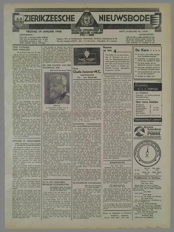 Zierikzeesche Nieuwsbode 1940-01-19