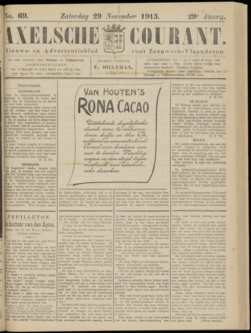 Axelsche Courant 1913-11-29