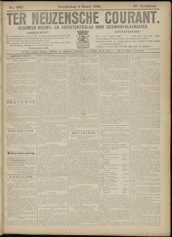 Ter Neuzensche Courant. Algemeen Nieuws- en Advertentieblad voor Zeeuwsch-Vlaanderen / Neuzensche Courant ... (idem) / (Algemeen) nieuws en advertentieblad voor Zeeuwsch-Vlaanderen 1920-03-04