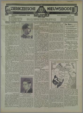 Zierikzeesche Nieuwsbode 1940-09-06