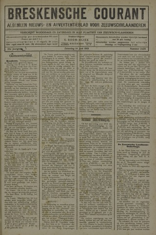 Breskensche Courant 1919-06-14