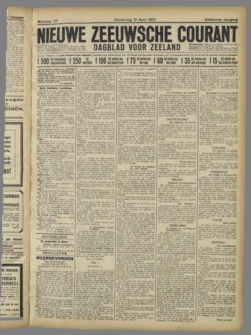 Nieuwe Zeeuwsche Courant 1922-04-13
