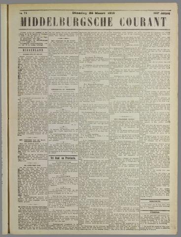 Middelburgsche Courant 1919-03-25