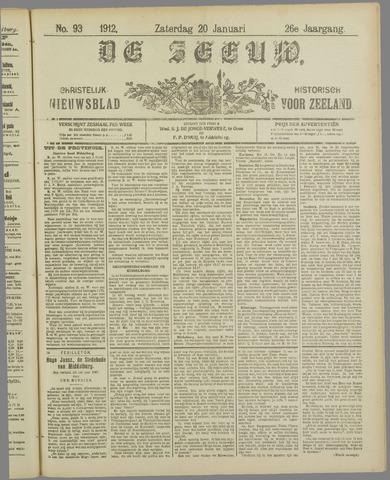 De Zeeuw. Christelijk-historisch nieuwsblad voor Zeeland 1912-01-20