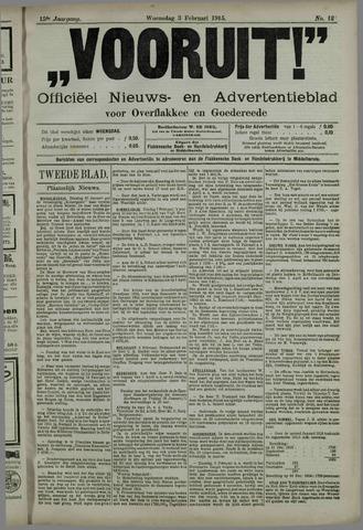 """""""Vooruit!""""Officieel Nieuws- en Advertentieblad voor Overflakkee en Goedereede 1915-02-03"""