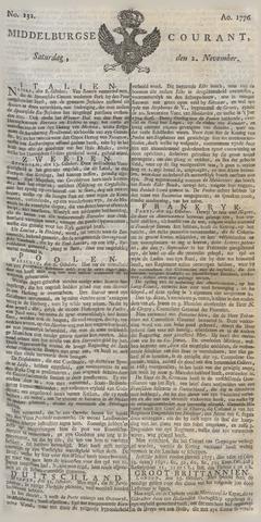 Middelburgsche Courant 1776-11-02