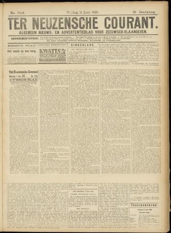 Ter Neuzensche Courant. Algemeen Nieuws- en Advertentieblad voor Zeeuwsch-Vlaanderen / Neuzensche Courant ... (idem) / (Algemeen) nieuws en advertentieblad voor Zeeuwsch-Vlaanderen 1926-06-11