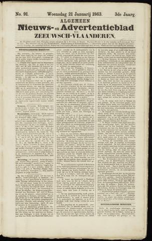 Ter Neuzensche Courant. Algemeen Nieuws- en Advertentieblad voor Zeeuwsch-Vlaanderen / Neuzensche Courant ... (idem) / (Algemeen) nieuws en advertentieblad voor Zeeuwsch-Vlaanderen 1863-01-21