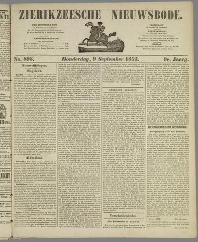 Zierikzeesche Nieuwsbode 1852-09-09
