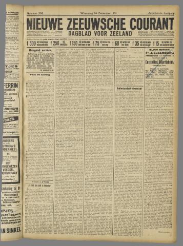 Nieuwe Zeeuwsche Courant 1921-12-14