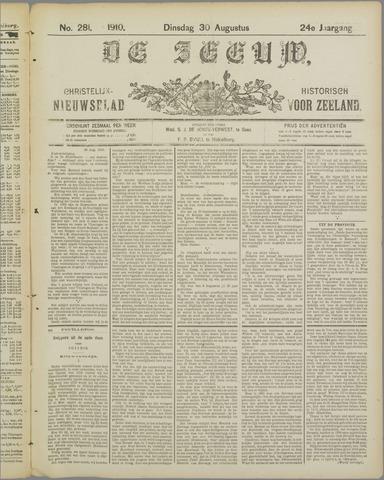 De Zeeuw. Christelijk-historisch nieuwsblad voor Zeeland 1910-08-30