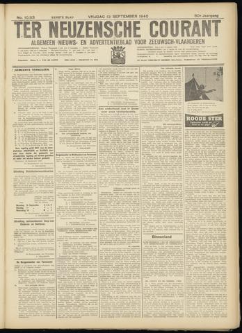 Ter Neuzensche Courant. Algemeen Nieuws- en Advertentieblad voor Zeeuwsch-Vlaanderen / Neuzensche Courant ... (idem) / (Algemeen) nieuws en advertentieblad voor Zeeuwsch-Vlaanderen 1940-09-13