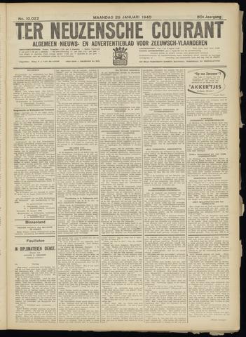 Ter Neuzensche Courant. Algemeen Nieuws- en Advertentieblad voor Zeeuwsch-Vlaanderen / Neuzensche Courant ... (idem) / (Algemeen) nieuws en advertentieblad voor Zeeuwsch-Vlaanderen 1940-01-29