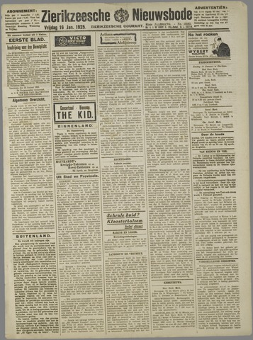 Zierikzeesche Nieuwsbode 1925-01-16