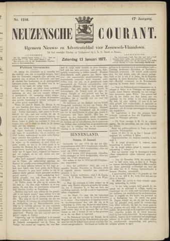 Ter Neuzensche Courant. Algemeen Nieuws- en Advertentieblad voor Zeeuwsch-Vlaanderen / Neuzensche Courant ... (idem) / (Algemeen) nieuws en advertentieblad voor Zeeuwsch-Vlaanderen 1877-01-13