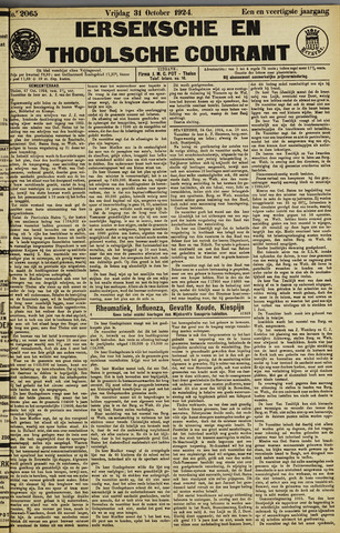 Ierseksche en Thoolsche Courant 1924-10-31