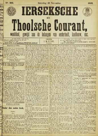 Ierseksche en Thoolsche Courant 1892-11-12