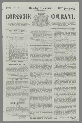 Goessche Courant 1874-01-13