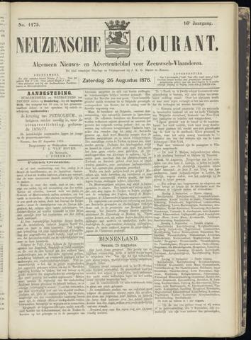 Ter Neuzensche Courant. Algemeen Nieuws- en Advertentieblad voor Zeeuwsch-Vlaanderen / Neuzensche Courant ... (idem) / (Algemeen) nieuws en advertentieblad voor Zeeuwsch-Vlaanderen 1876-08-26