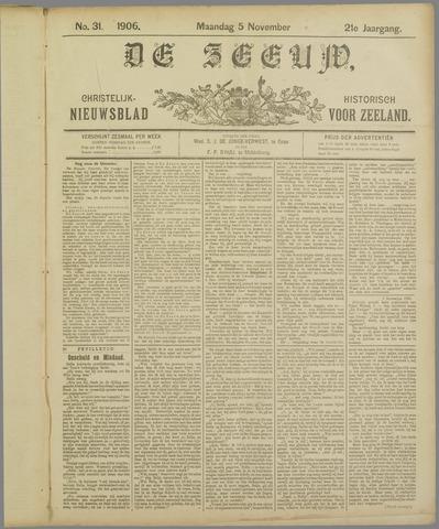 De Zeeuw. Christelijk-historisch nieuwsblad voor Zeeland 1906-11-05