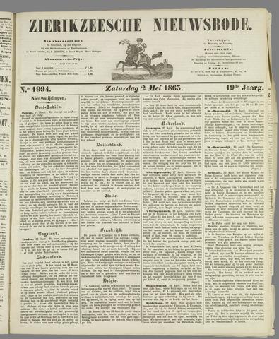Zierikzeesche Nieuwsbode 1863-05-02