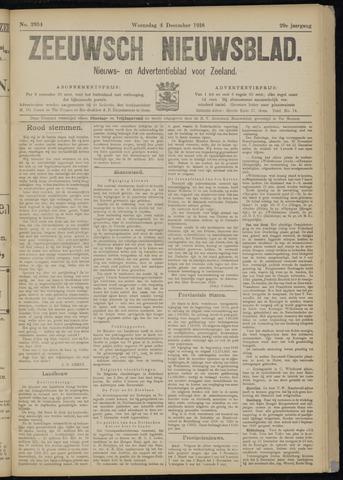 Ter Neuzensch Volksblad. Vrijzinnig nieuws- en advertentieblad voor Zeeuwsch- Vlaanderen / Zeeuwsch Nieuwsblad. Nieuws- en advertentieblad voor Zeeland 1918-12-04