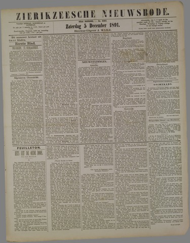 Zierikzeesche Nieuwsbode 1891-12-05
