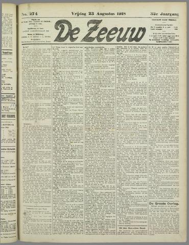 De Zeeuw. Christelijk-historisch nieuwsblad voor Zeeland 1918-08-23