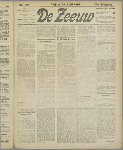 De Zeeuw. Christelijk-historisch nieuwsblad voor Zeeland 1916-04-28