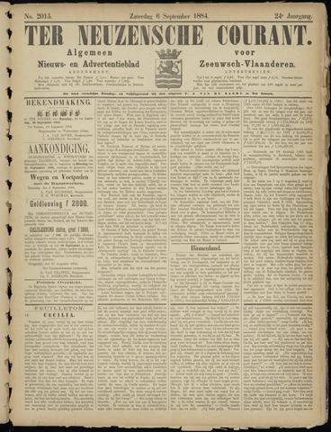 Ter Neuzensche Courant. Algemeen Nieuws- en Advertentieblad voor Zeeuwsch-Vlaanderen / Neuzensche Courant ... (idem) / (Algemeen) nieuws en advertentieblad voor Zeeuwsch-Vlaanderen 1884-09-06