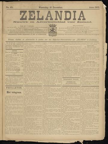 Zelandia. Nieuws-en advertentieblad voor Zeeland | edities: Het Land van Hulst en De Vier Ambachten 1902-12-10