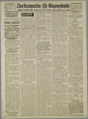 Zierikzeesche Nieuwsbode 1925-02-13