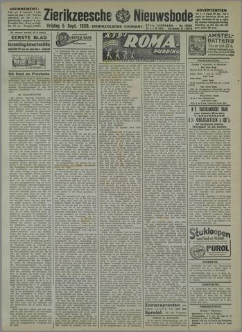 Zierikzeesche Nieuwsbode 1930-09-05