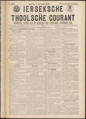 Ierseksche en Thoolsche Courant 1916-11-04