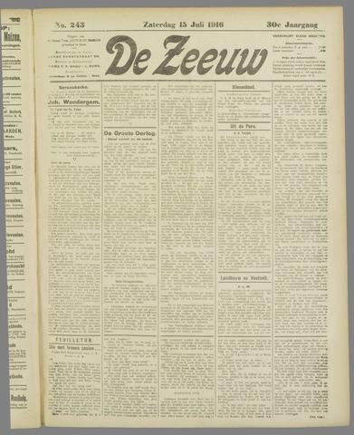 De Zeeuw. Christelijk-historisch nieuwsblad voor Zeeland 1916-07-15