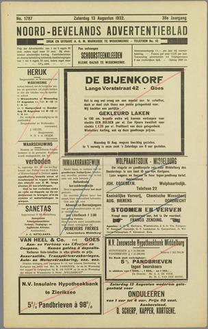 Noord-Bevelands Nieuws- en advertentieblad 1932-08-13