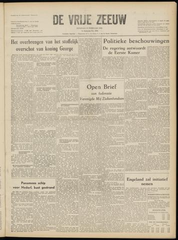 de Vrije Zeeuw 1952-02-12