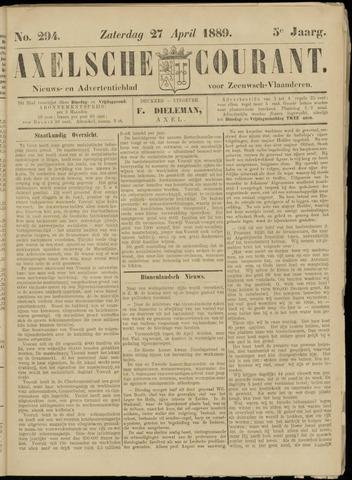 Axelsche Courant 1889-04-27