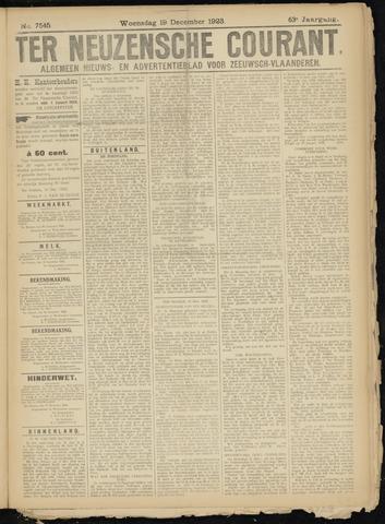 Ter Neuzensche Courant. Algemeen Nieuws- en Advertentieblad voor Zeeuwsch-Vlaanderen / Neuzensche Courant ... (idem) / (Algemeen) nieuws en advertentieblad voor Zeeuwsch-Vlaanderen 1923-12-19