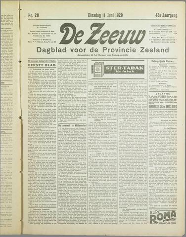De Zeeuw. Christelijk-historisch nieuwsblad voor Zeeland 1929-06-11