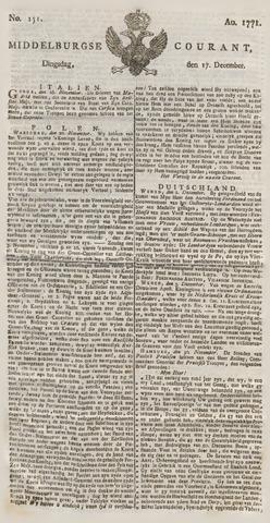 Middelburgsche Courant 1771-12-17