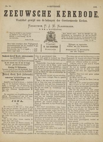 Zeeuwsche kerkbode, weekblad gewijd aan de belangen der gereformeerde kerken/ Zeeuwsch kerkblad 1887-09-10