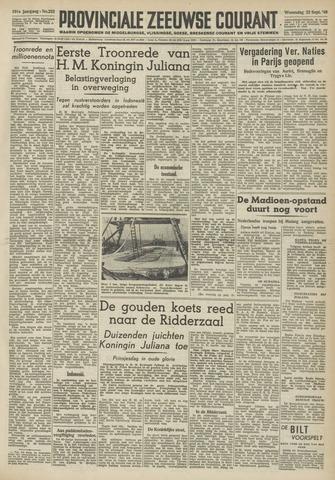 Provinciale Zeeuwse Courant 1948-09-22