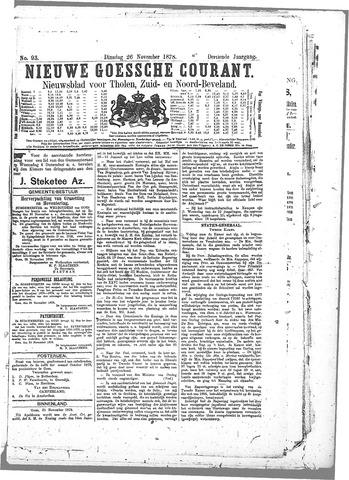 Nieuwe Goessche Courant 1878-11-26