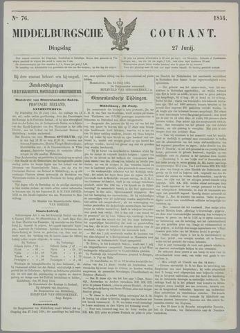 Middelburgsche Courant 1854-06-27