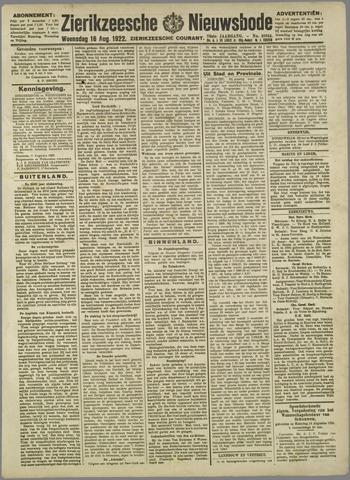 Zierikzeesche Nieuwsbode 1922-08-16